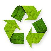 Recycle symbol leaf.
