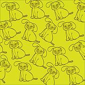 pattern of dog silhouettes