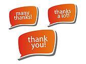 Thank you - grateful color bubbles design