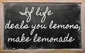 handwriting blackboard writings - If life deals you lemons, make lemonade