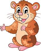 Cute cartoon hamster