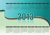 Calendar 2013 with American holida