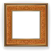 Wooden frame with leaf pattern