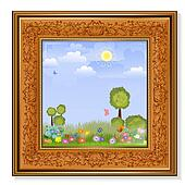 Pretty picture in wooden frame