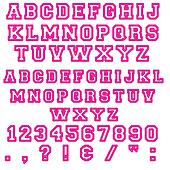 Raspberry Block Alphabet Letters
