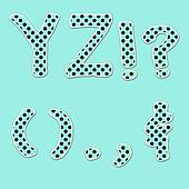 Y&Z PolkaDot Letters & Punctuation