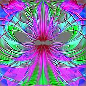 abstract stained-glass design