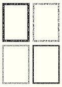 Egyptian hieroglyphic frames