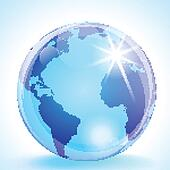 The Americas, Europe and Africa Globe