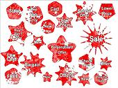 Red Christmas Special Offer Sales Stickers