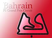 Bahrain F1 Formula 1 Racing Circuit Map