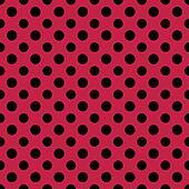 Raspberry & Black PolkaDot Paper