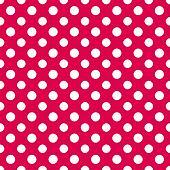 Raspberry & White PolkaDot Paper