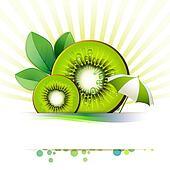 Slices kiwi