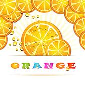 Frame with slice of orange