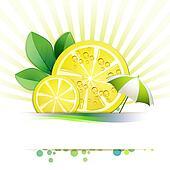Slices lemon