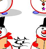 singing snowman seamless tile