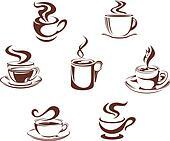 Coffee and tea symbols