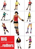 Big collection of Roller skater si