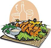 grilled salmon kebab
