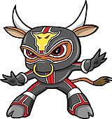 Bull Ninja Warrior Vector