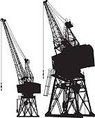 Dockyard cranes