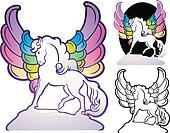 Art Deco Pegasus