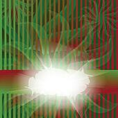 Striped red and green card
