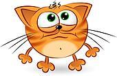 Sad cartoon cat