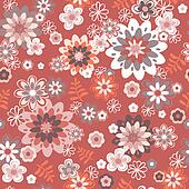 seamless vintage flower pattern background