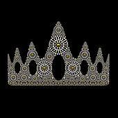 Crown symbol jewelry ornament