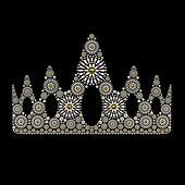 Crown symbol jewelry ornament white design