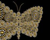 Luxury jewelry butterfly ornament background