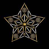 Star shape jewelry decoration design