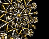 Luxury jewelry ornament background