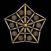 Star shape symbol jewelry design