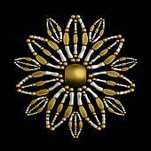Flower symbol jewelry ornament