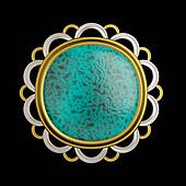 Mysterious brooch conceptual design
