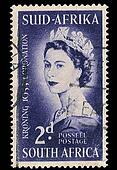 South Africa Postage Stamp Coronation 1953