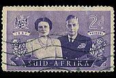South Africa Postage Stamp Royal Visit 1947