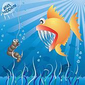 Worm meets fish