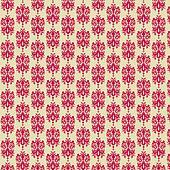 Raspberry & Cream Damask Paper