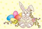 easter bunny vector ilustration