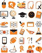 30 education icons vector illustration set