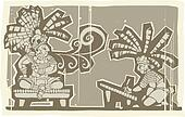 Woodblock Mayan King A