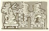 Woodblock Mayan King B