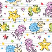 pattern of sea creatures