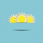 Sun Symbol Background
