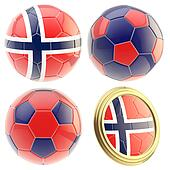 Norway football team attributes isolated