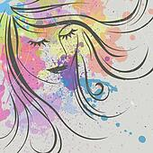 Abstract Vector Woman
